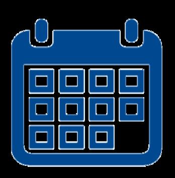 blank blue calendar