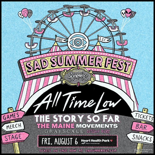 Sad Summer Festival on August 6 with All Time Low