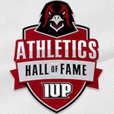 IUP Athletics Hall of Fame logo featuring hawk