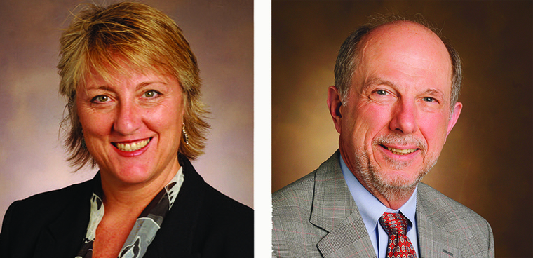 Collage of headshots. Left: Heidi Hamm. Right: Fred Guengerich.