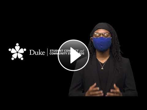 """Youtube video for the """"Get to Know Duke"""" series featuring Office of Student Conduct and Community Centers"""