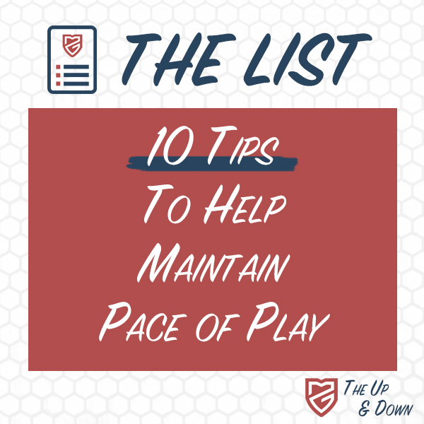 10 Tips To Maintain Pace of Play