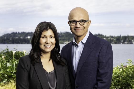 Anu and Satya Nadella