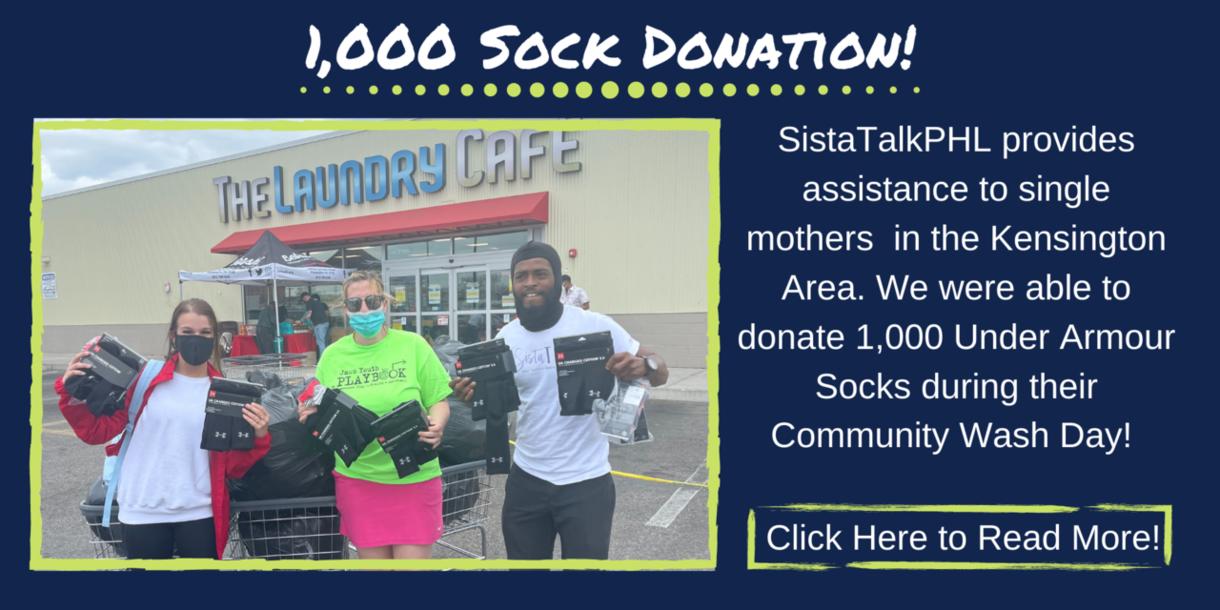 1,000 Sock Donation!