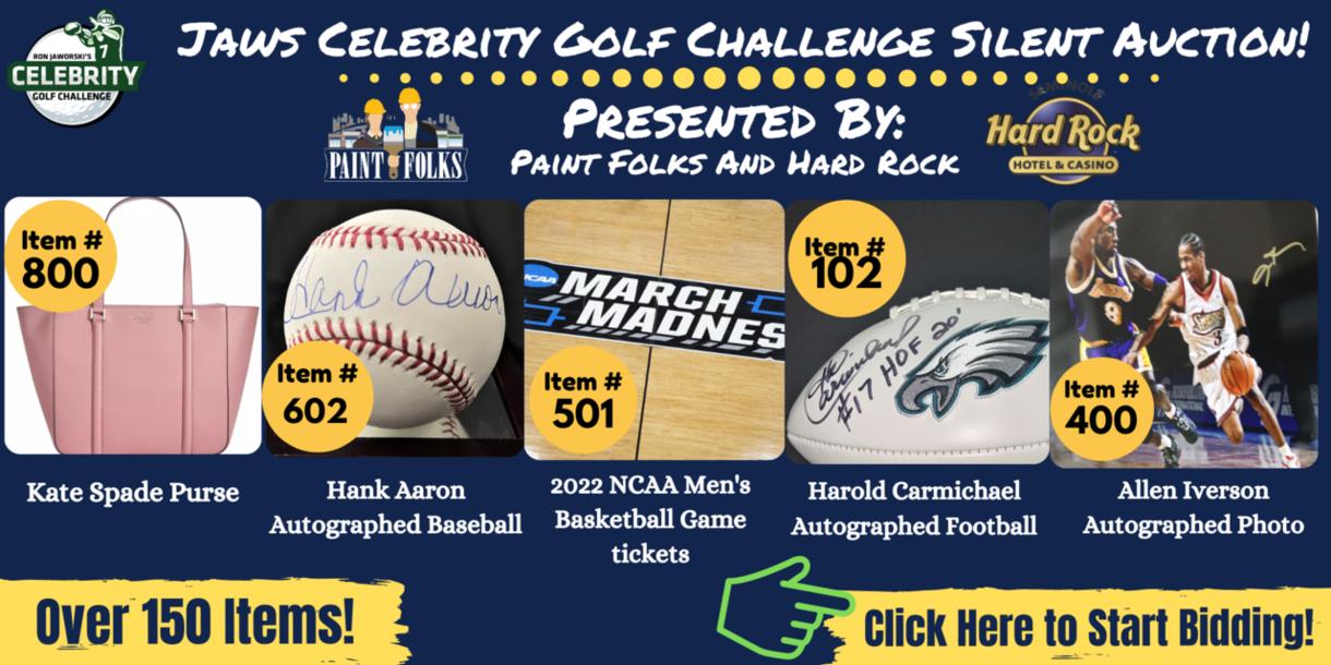 JAWS Celebrity Golf Challenge Silent Auction!