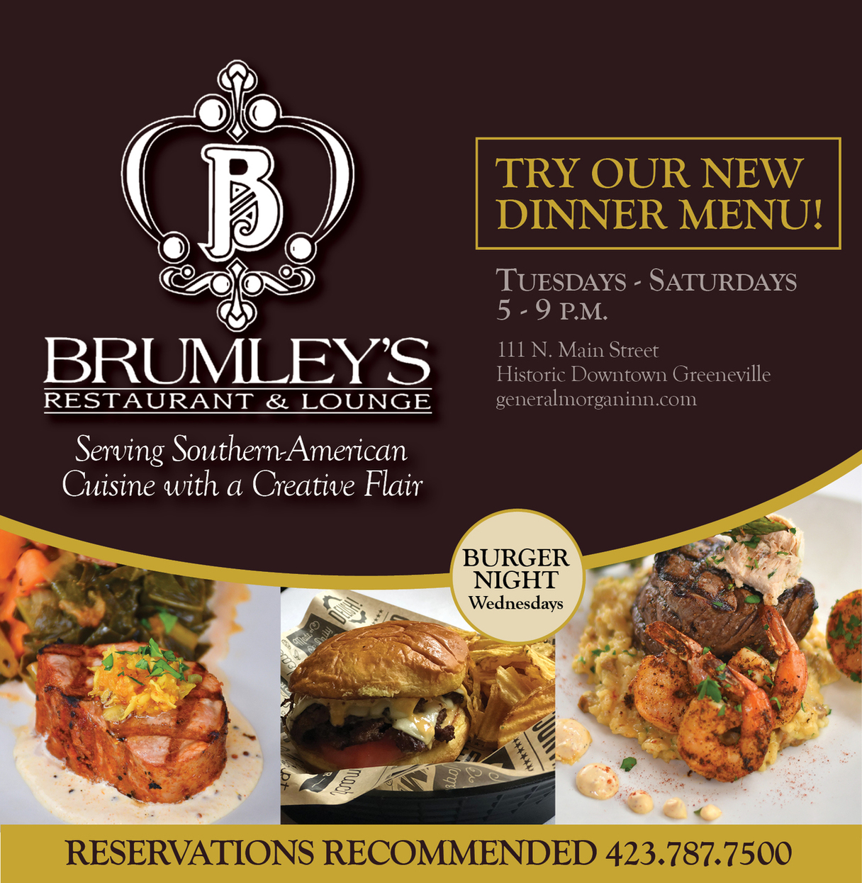 Try our new dinner menu!