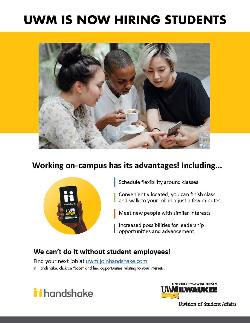 UWM is now hiring student employees
