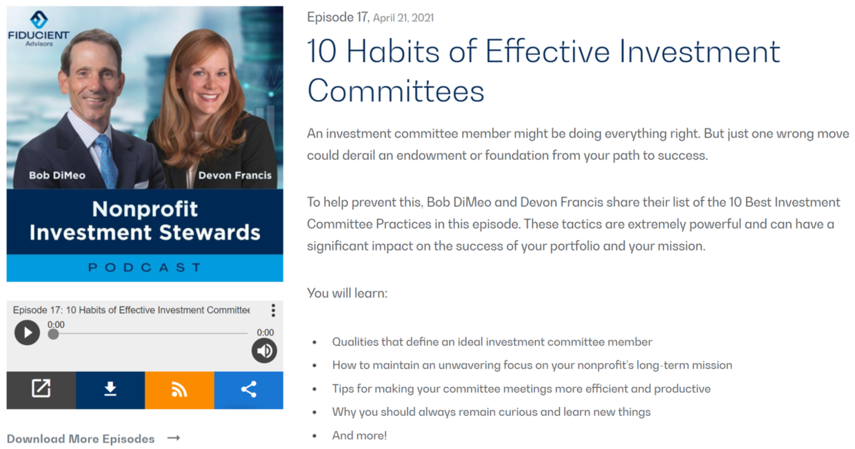 10 Habits of Effective Investment Committees