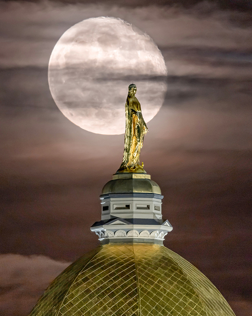 Photo of Our Lady atop the Golden Dome, Main Building