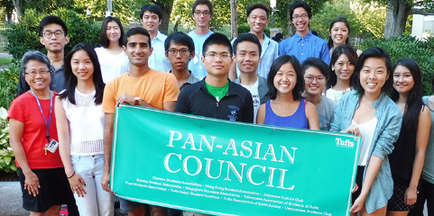 Students at the Asian American Center
