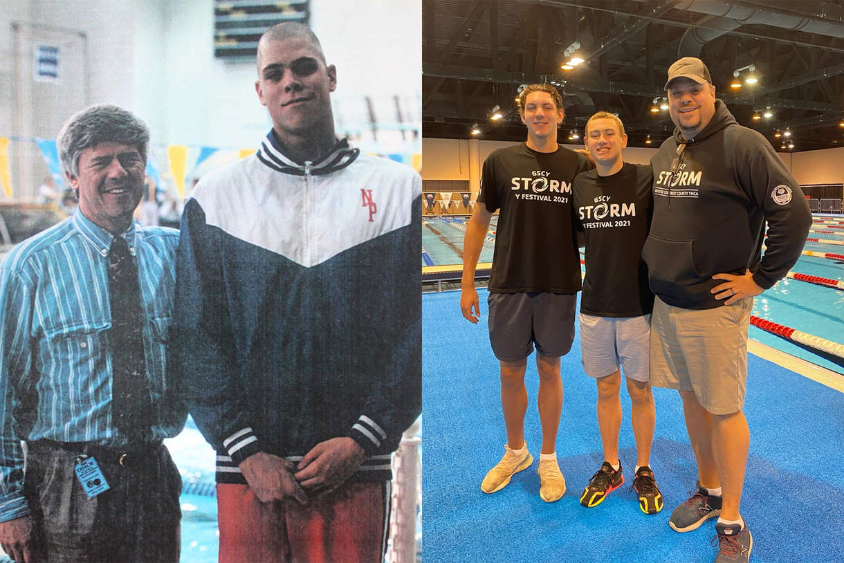 NP Hawks: Swimming Alum Lou Petto '94 Coaches Two Hopefuls at Olympic Trials