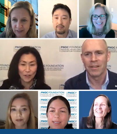 An image of all presenters in the PNOC 2021 Ependymoma Informational Webinar.