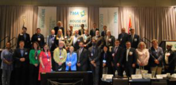 NAM delegation and physician leaders from TMA