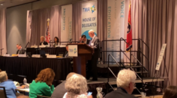 TMA Board of Trustees Chair Dr. Timothy Wilson recognizes NAM's 200th anniversary