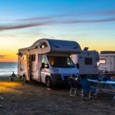 Camping on the coast