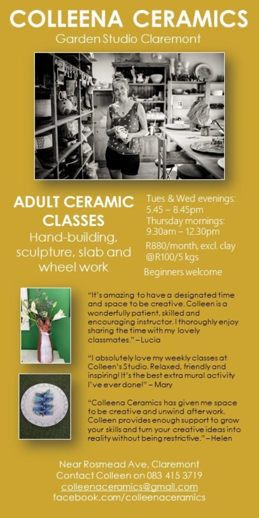 Adult Ceramix Classes