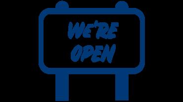We're Open icon