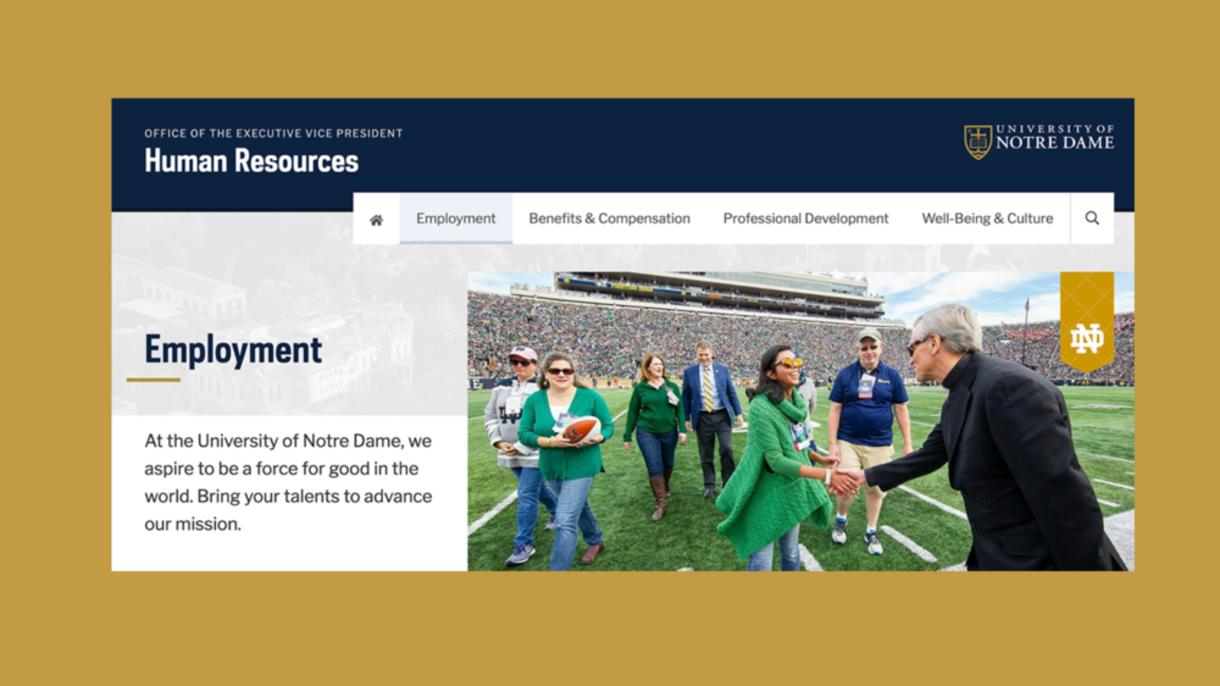 HR website's employment page.