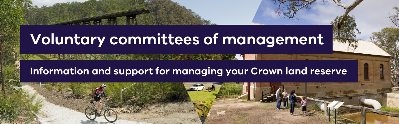 Voluntary committees of management Information and support for volunteer committees of management