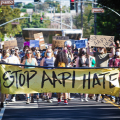 protest for stop AAPI hate