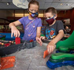 Kids playing with colorful and fun toys at kidsburgh