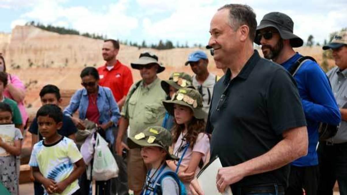 Douglas Emhoff Visit to Bryce Canyon