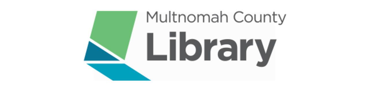 Logo for and link to website for Multnomah County Library