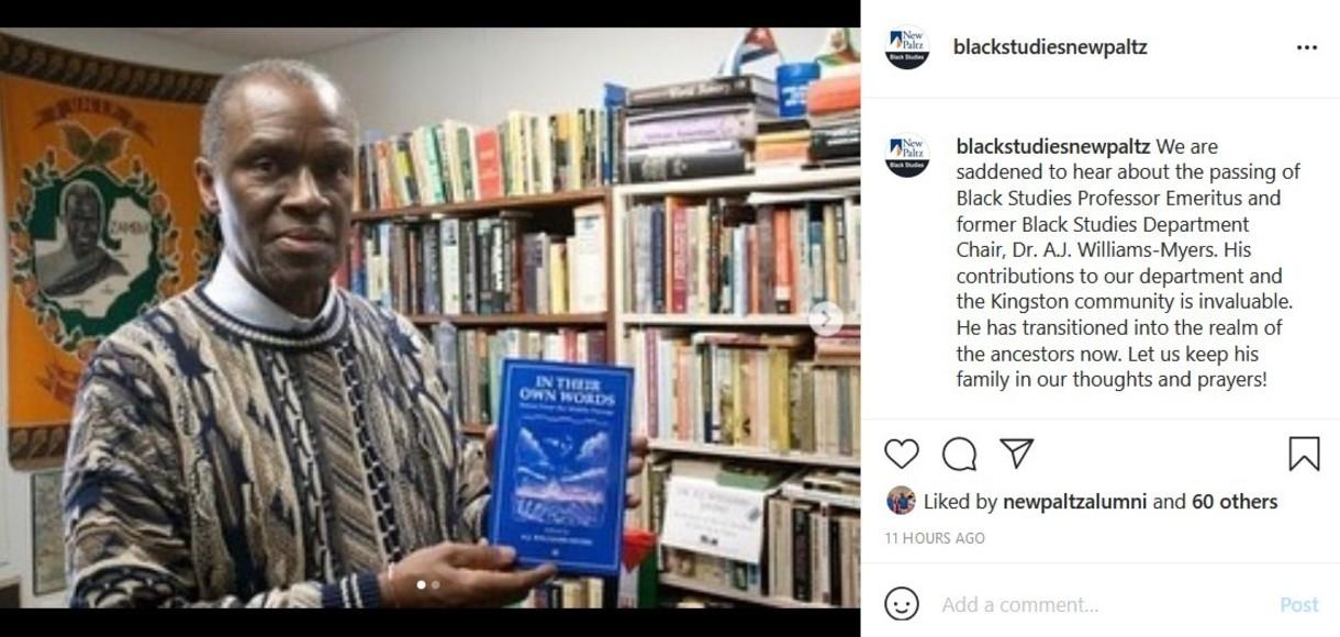 New Paltz Black Studies on Instagram