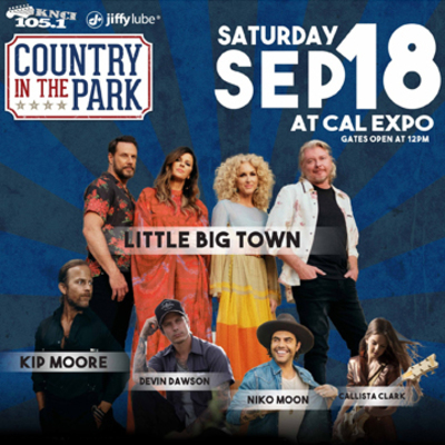 Country in the Park on Saturday, September 18 at Cal Expo