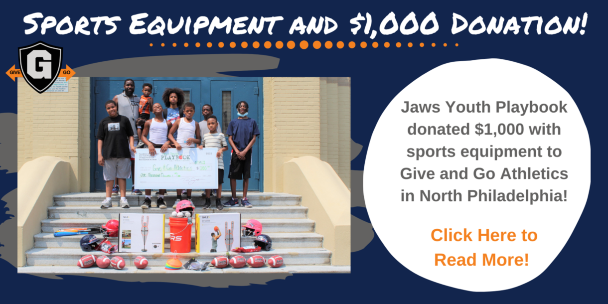 Sports Equipment and $1,000 Donation!