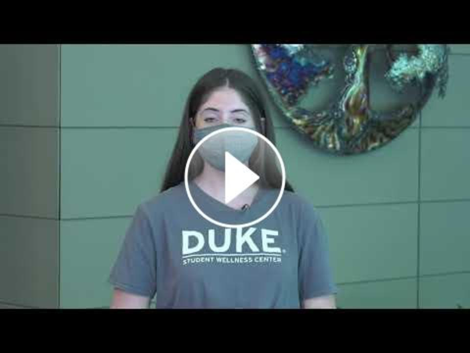 """Youtube video for the """"Get to Know Duke"""" series featuring Wellness at Duke"""