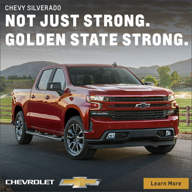 Chevy Silverado: Not just strong. Golden state strong. Chevrolet. Learn More.