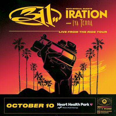 """311 """"Live From The Ride"""" Tour on October 10 at 6:30 pm"""