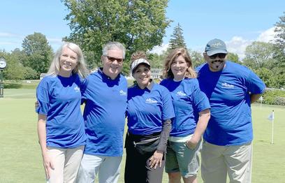 Melanie Wilkinson (Brown), Kevin Horrigan, Michelle Richter, Denise Bienko and Brad Watts at the Ilio DiPaolo Memorial Golf Tournament.at the Ilio DiPaolo Memorial Golf Tournament.
