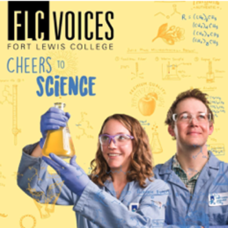 Two Chemistry students on cover of FLC Voices magazine