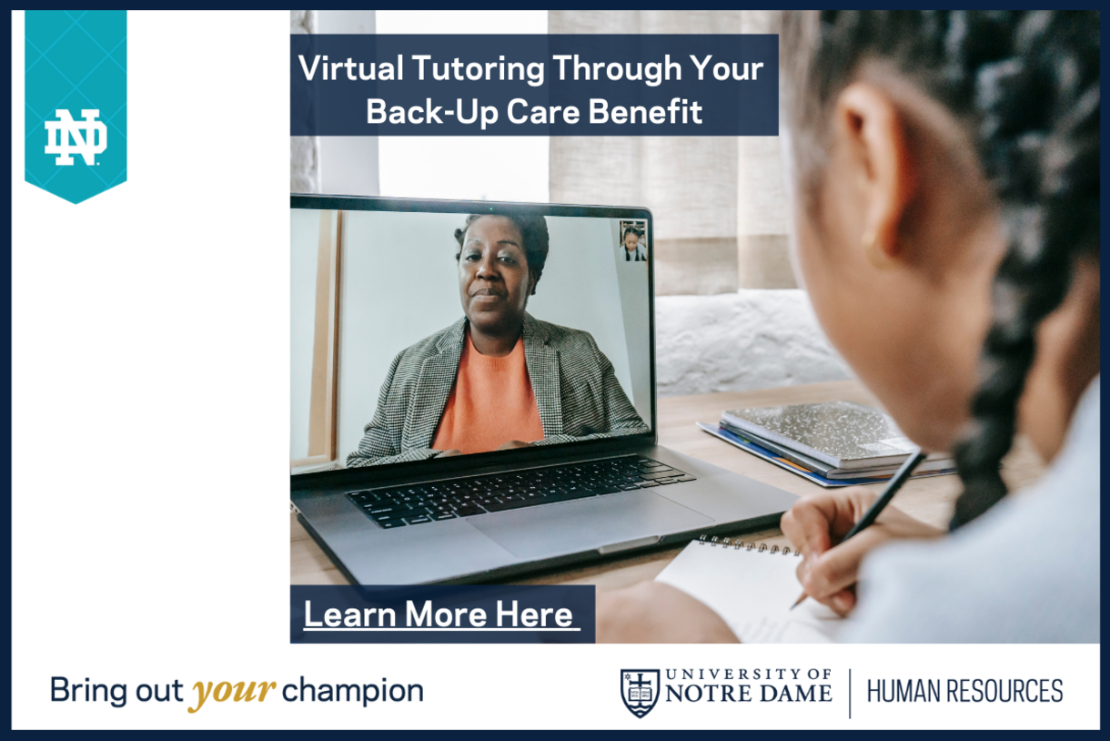 Virtual tutoring through your back-up care benefit