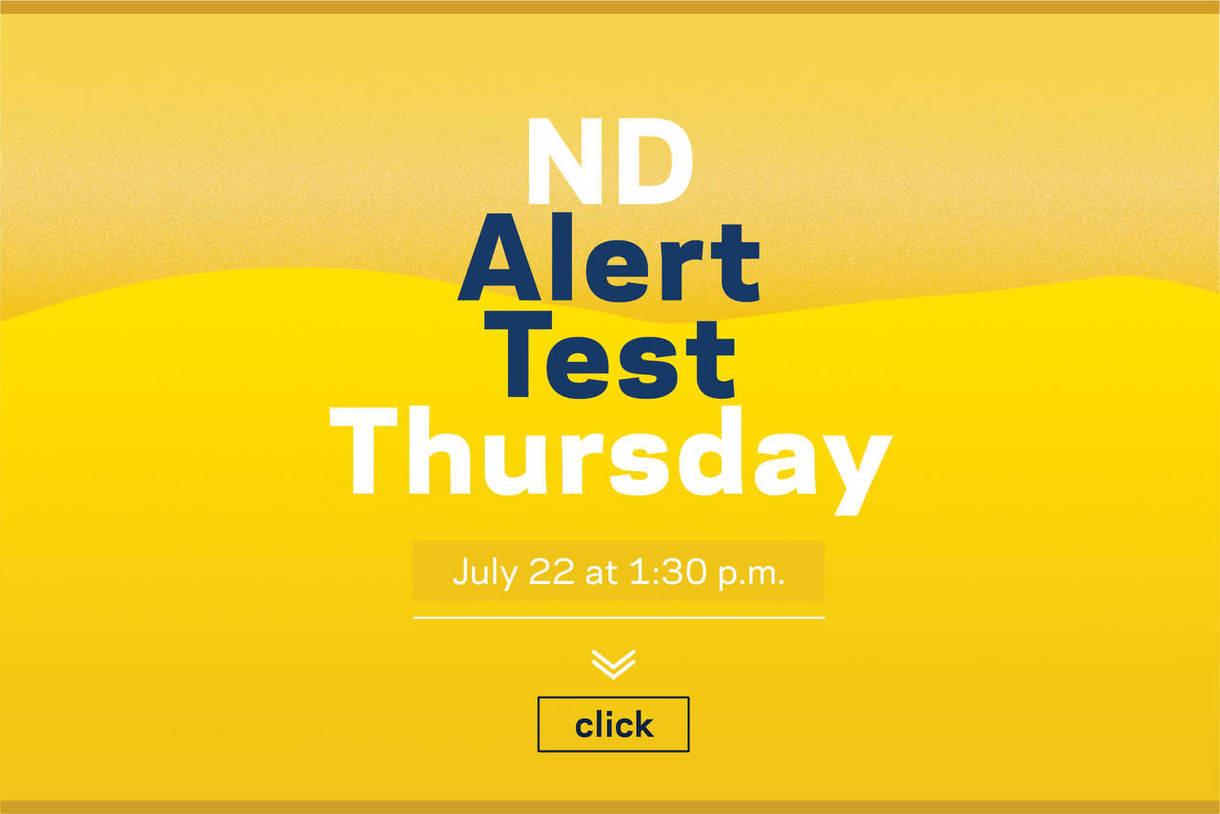 ND Alert Test Thursday