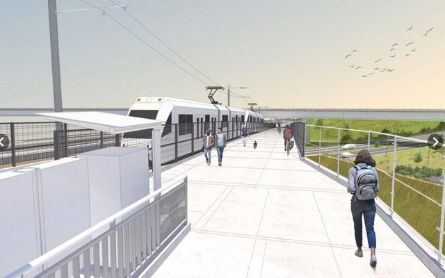 Rendering of the furture TriMet light rail improvement.
