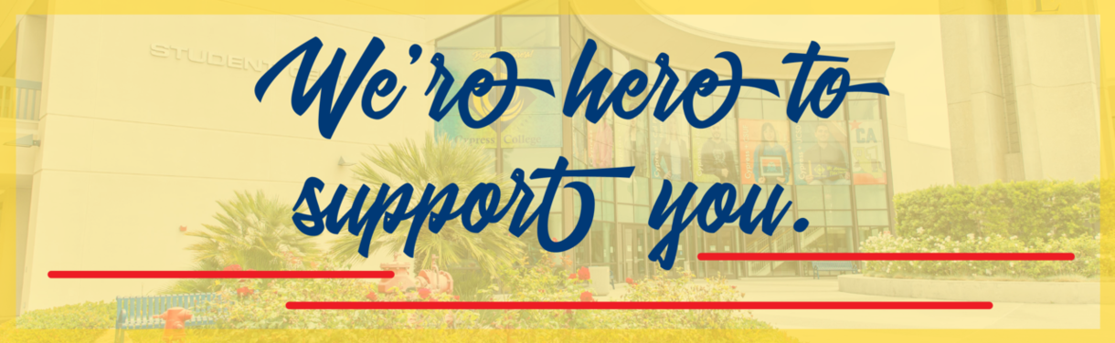 We're here to support you email header graphic