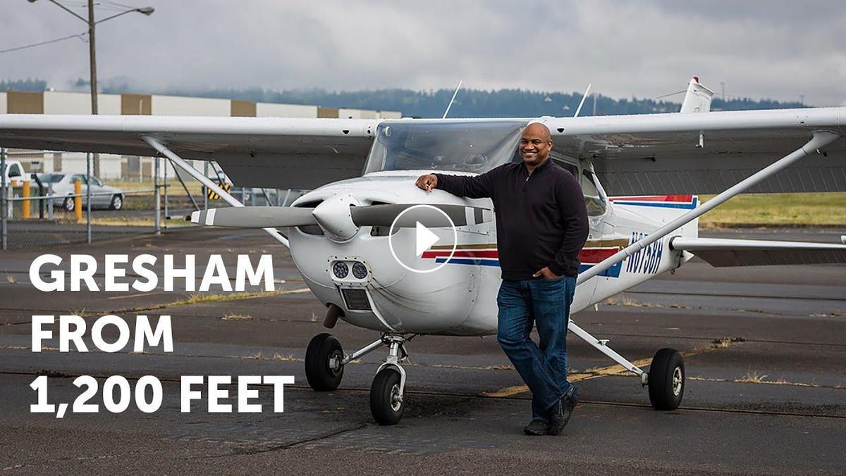 Mayor Travis Stovall takes the community flying