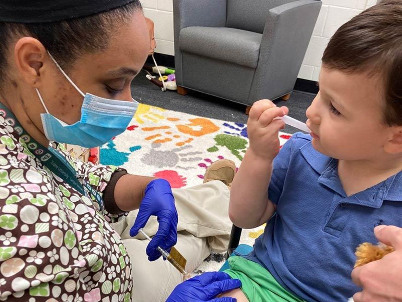 Children's vaccine trial