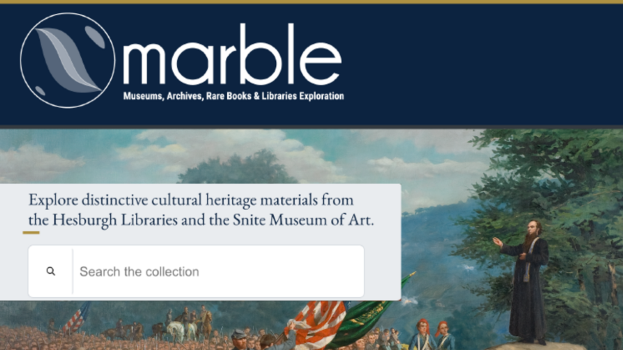 Photo of MARBLE website.