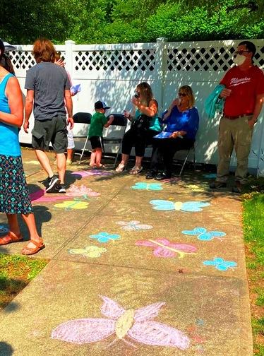 Chalk Butterfies on Walkways