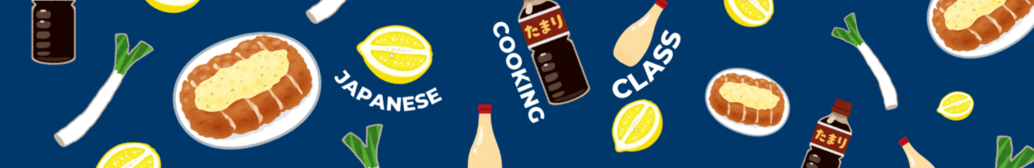 flyer for Japanese Cooking Class with cartoon pictures of katsu and other ingredients
