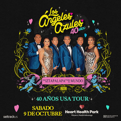 Los Ángeles Azules – 40 Años Tour on October 9 at 8 pm at Heart Health Park
