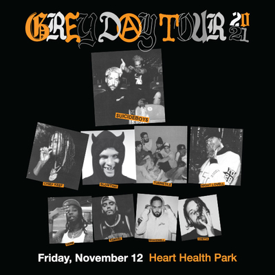 Greyday Tour Friday, November 12 at Heart Health Park
