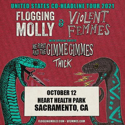 Flogging Molly & Violent Femmes on October 12 at 6:00 pm