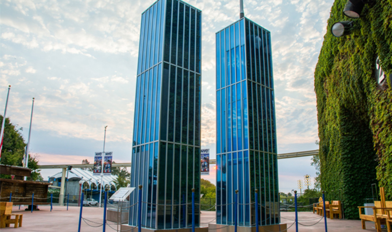 Replica of the Twin Towers at Cal Expo's Sept 11 Memorial