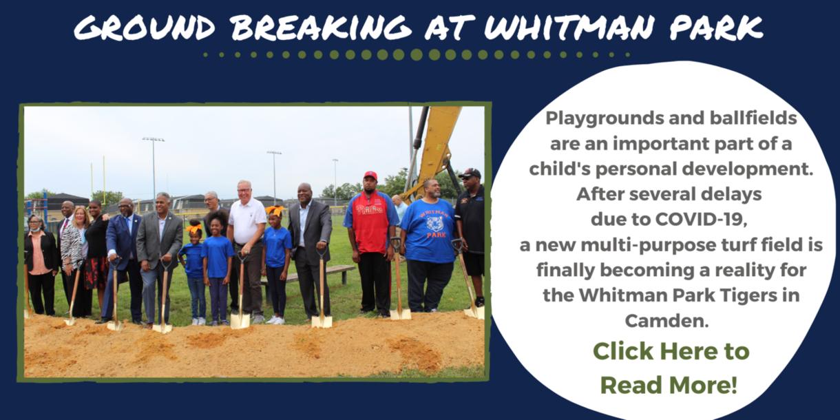 Ground Breaking at Whitman Park