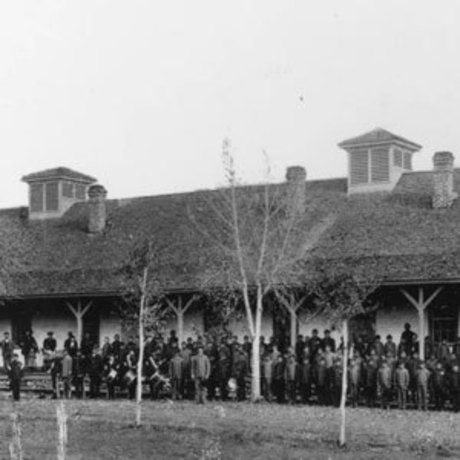 Group of students who were forced to attend the Fort Lewis Indian School